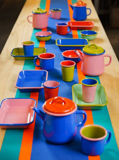 Three Colour Enamelware