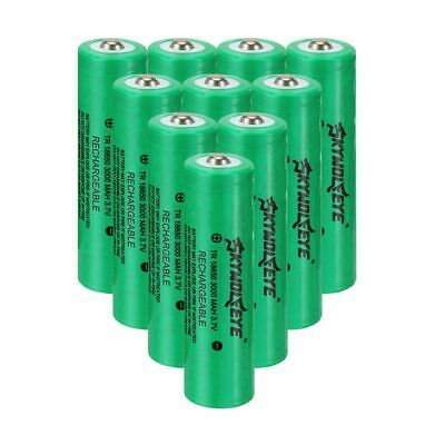 Ad Ebay Link 10 Skywolfeye 18650 Battery 3000mah 3 7v Li Ion Rechargeable Battery For Torch In 2020 Rechargeable Batteries 18650 Battery Tactical Led Flashlight
