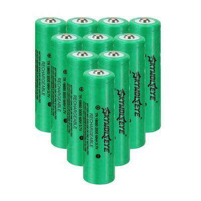 Ad Ebay Link 10 Skywolfeye 18650 Battery 3000mah 3 7v Li Ion Rechargeable Battery For Torch In 2020 Rechargeable Batteries 18650 Battery Tactical Led Flashlight