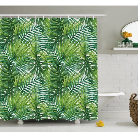 Home Green Shower Curtains Bathroom Decor Sets Fabric Shower