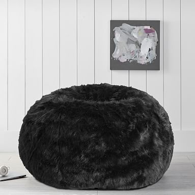 Super The Emily Meritt Black Faux Fur Beanbag Bedroom In 2019 Gmtry Best Dining Table And Chair Ideas Images Gmtryco