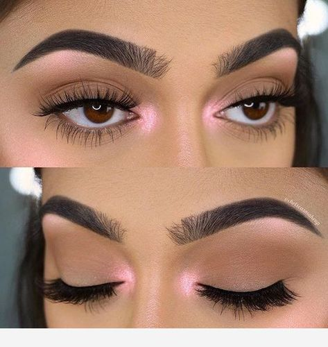 Makeup with open and closed eyes!