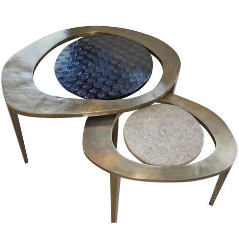 R  Y Augousti nesting coffee table