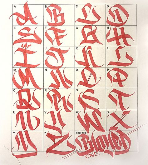 Graffiti Letters: 61 graffiti artists share their styles - Graffiti - Typography Hand Lettering Alphabet, Tattoo Lettering Styles, Graffiti Lettering Fonts, Lettering Alphabet Fonts, Graffiti Lettering Alphabet, Lettering Design, Graffiti Lettering