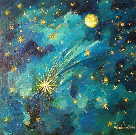 Antonio Tonelli (b.1934) - The Big Comet. 2004. Acrylic on canvas. | Art,  Artwork, Trash art