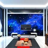 3D Blue Night Sky Stars Wall or Ceiling Wallpaper Custom Mural