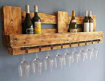 Weinregal Euro Palettenmobel Vintage Wandregal Holz Bar Rustikal Geflammt Shabby Ebay In 2020 Vintage Wine Rack Wine Shelves Rustic Wine Racks