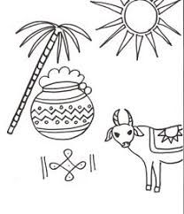 Image Result For Pongal Festival Crafts For Kids Free Coloring Pages Free Coloring Coloring Pages