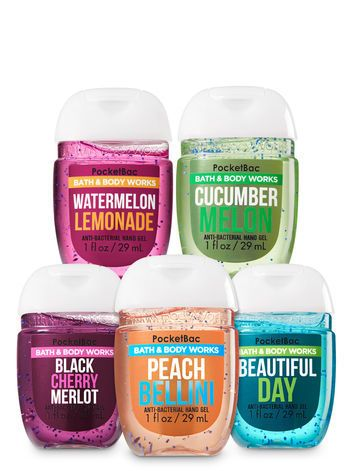 Bath Body Works Pocketbac Hand Sanitizer Classic Scents 5pc