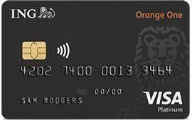 Ing Orange One Platinum Credit Card Platinum Credit Card Credit