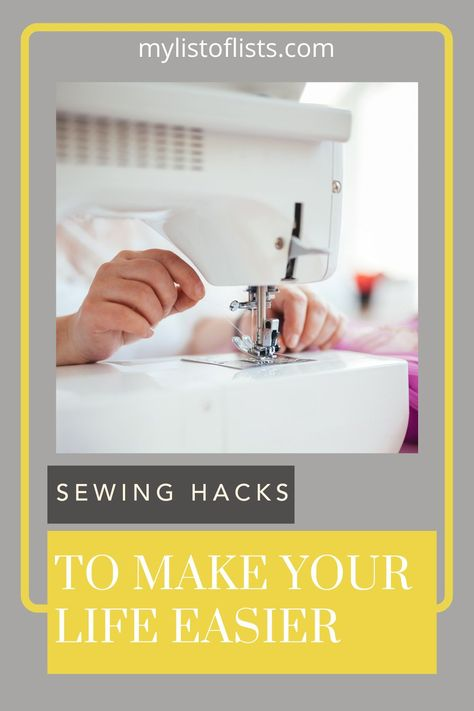 Find tons of life changing pro-tips at mylistoflists.com! Breeze through your projects with less effort with creative tricks. These hacks will make your sewing skills improve instantly!
