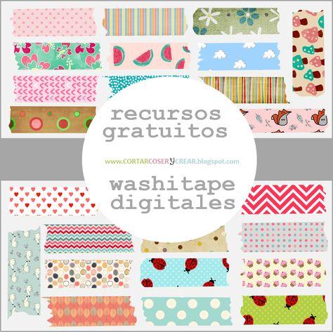 Recursos gratuitos: Washitapes digitales