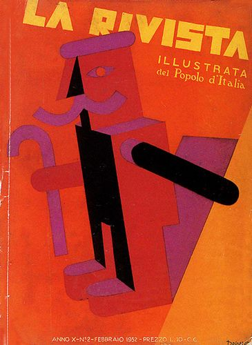 History of Visual Communications - Futurism - La Ravista Cover Art by Fortunato Depero 1932