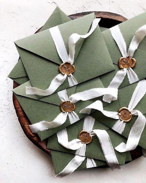 dark sage alternative letterpress with gold foil wedding invitations #marriages #wedding #weddingide