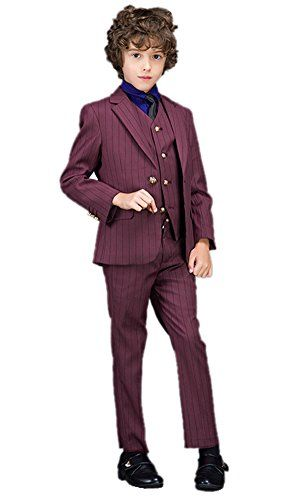 Liveinu Boys Little Gentleman Two Botton Formal Suit 3-Pieces Set