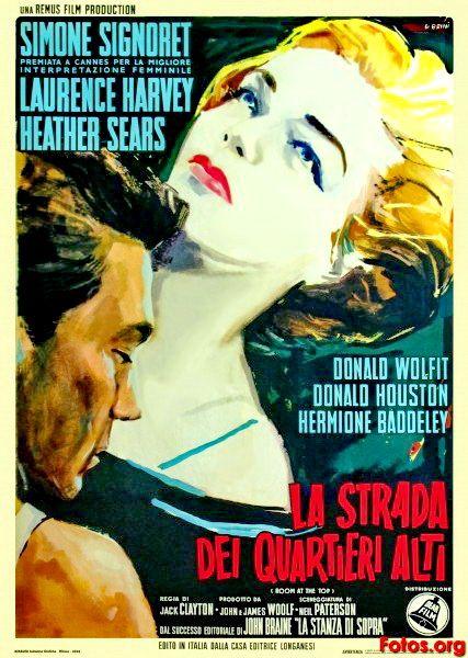 Carteles Del Cinema Un Lugar En La Cumbre Room At The Top 1959 De J Movie Posters Classic Movie Posters Best Actress Oscar
