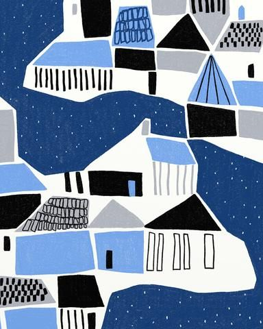 Ophelia Pang: iceland -Blue and white and black-made for each other.