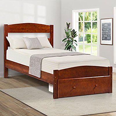 Amazon Com Merax Platform Twin Bed Wood Frame With Storage