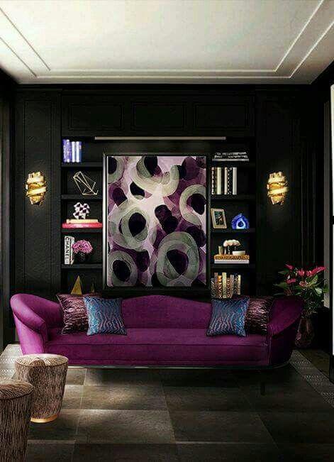 Como Decorar Paredes De Salas Modernas Decoracion De Salas Modernas Decoraciones De Salas Pequenas Dark Living Rooms Living Room Designs Luxury Living Room