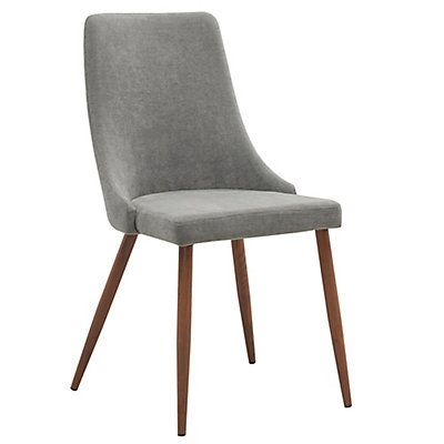 Nspire Cora Solid Wood Walnut Parson Armless Dining Chair With