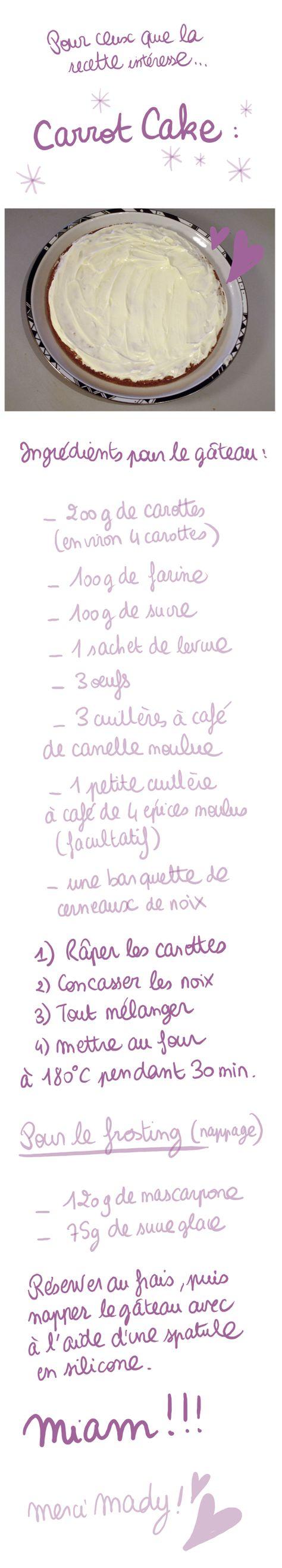 Recette Carrot Cake par Diglee