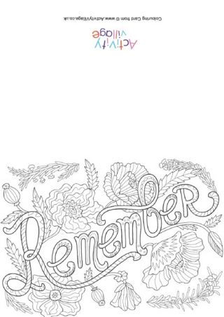 Remembrance Day Colouring Pages Remembrance Day Poppy Poppy Coloring Page Remembrance Day