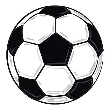 A White Black Soccer Ball Vector Or Color Illustration Soccer Ball Clipart Summer Ball Png And Vector With Transparent Background For Free Download Black And White Background Black And White Building