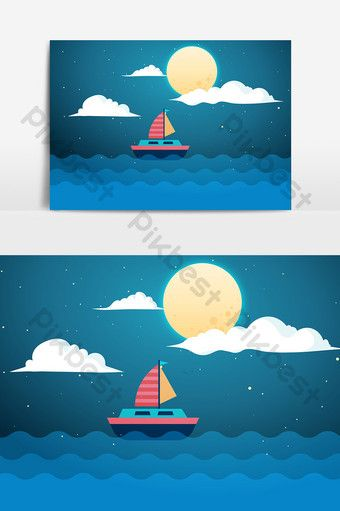 Sea Boat Cartoon Elements Png Images Psd Free Download Pikbest In 2020 Boat Cartoon Sea Logo Sea Drawing