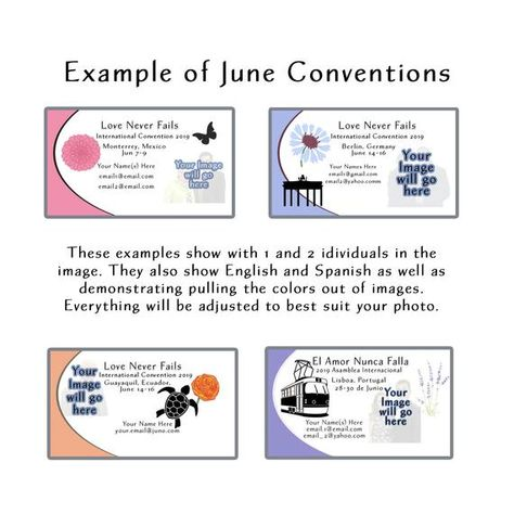 2019 Special Convention Business Card Templates