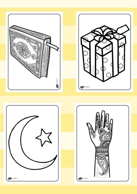 Eid Colouring Sheets Eid Cards Coloring Sheets Cards
