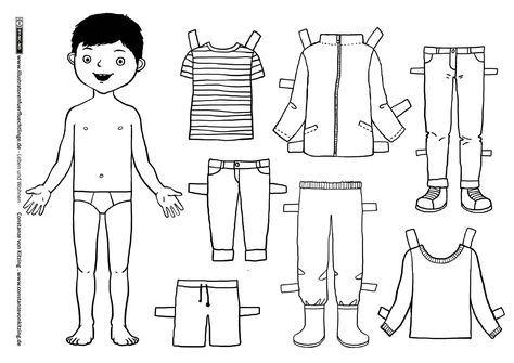Download Als Pdf Leben Und Wohnen Kleidung Anziehpuppe Junge Von Kitzing Link Zur Animation Als Video Www I Poupee En Papier Poupees En Papier S Habiller