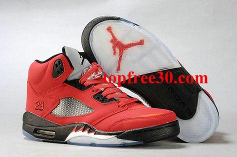 separation shoes 054aa 76b3c topfree30.com for nikes 50% OFF - Air Jordan 5 Retro Red Black Men s  Sneakers