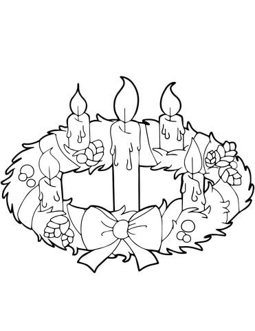 Adventskrans Och Ljus Malarbok Advent Coloring Advent Coloring Sheets Coloring Pages Inspirational