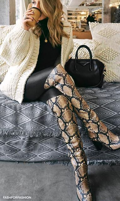 20++ Over the knee snakeskin boots ideas information