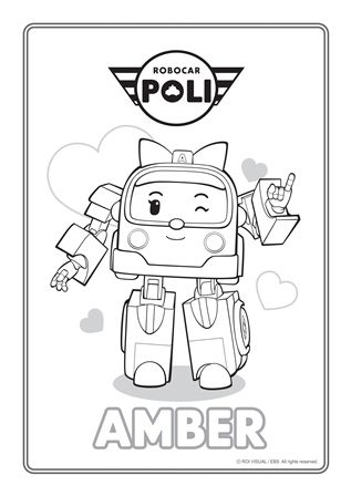 Activities Robocar Poli Coloring Pages For Kids Coloring Books