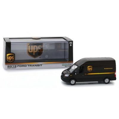 2018 Ford Transit High Roof Van United Parcel Service Ups Worldwide Services 1 43 Diecast Model By Greenlight In 2021 Ford Transit Diecast Models Diecast