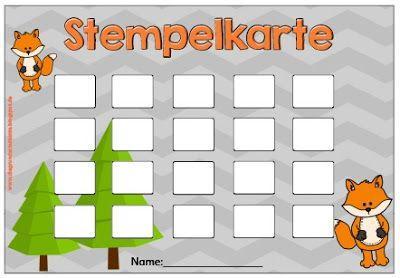 Stempelkarte Vorlage Fur Kinder 7