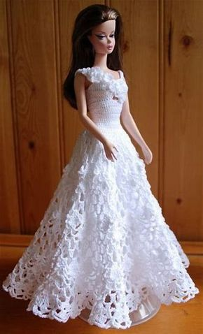 List Of Pinterest Barbie Clothes Patterns Crochet Ball Gowns Images