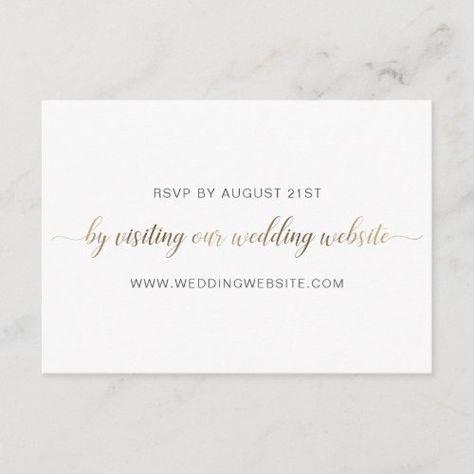 Wedding RSVP Online Card #calligraphy #script #simple #minimalist #rsvponline #weddingwebsite #weddingrsvpwebsite #rsvpwebsite #rsvp #goldfoil