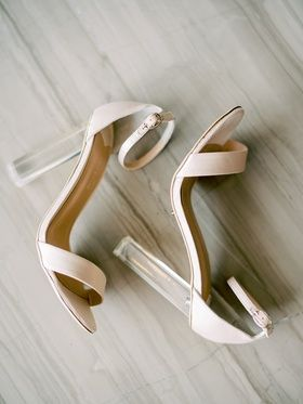 Tony Bianco Modern Wedding Shoes Lucite Acrylic Clear Heel Chunky With Ankle And Toe Straps Wedding Shoes Heels Wedding Shoes Bridal Shoes