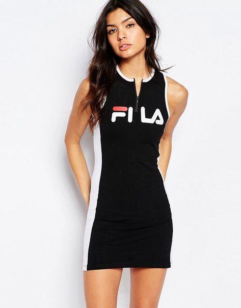 4b8b42352dc99 Fila Dresses Fila Dresses fila+zip+front+bodycon+dress+with+front+logo  CNRCDMS