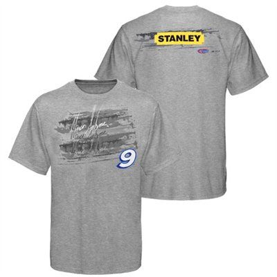NASCAR Kasey Kane #9 Garage Spirit Front Pocket Grey T shirt