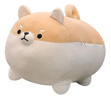 Auspicious beginning Stuffed Animal Shiba Inu Plush Toy Anime Corgi Kawaii Plush Dog Soft Pillow, Plush Toy Gifts for Boys Girls - Brown / 19.6