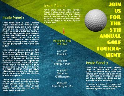 Inside, half-fold, Event Program Brochure Sport theme, but - event program