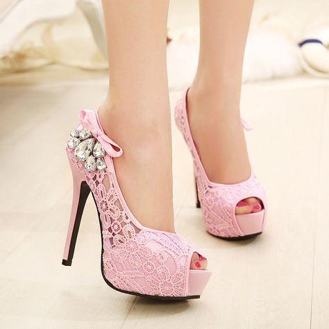 Las importaciones coreanas de tacón alto atractivo estupendo de diamantes finos zapatos principales de los pescados escoge los zapatos del club nocturno de red esenciales