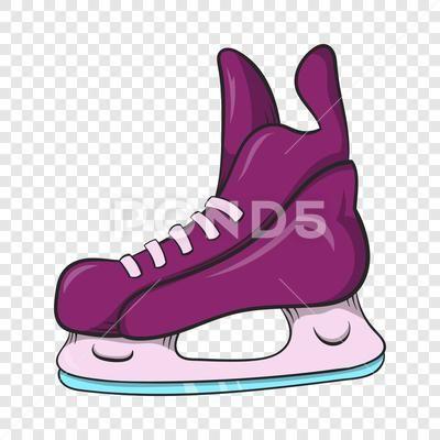 Ice Hockey Skates Icon Cartoon Style Stock Illustration Ad Skates Icon Ice Hockey Cartoon Styles Cartoon Ice Hockey