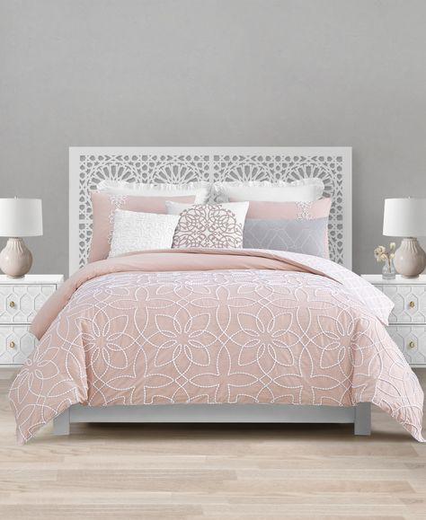 Closeout! Lacourte Catarina 8-Pc. King Reversible Comforter Set - Blush