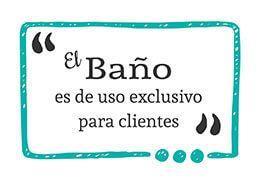 Bano Exclusivo Para Clientes Senalizacion Hosteleria Comercio