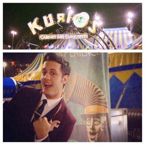 Nick Pitera attending the U.S. premiere of Kurios. ❤️