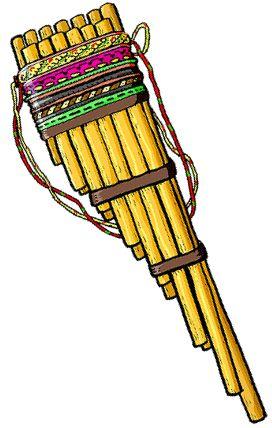 ZAMPONA Instrumento de viento compuesto de tubos huecos tapados